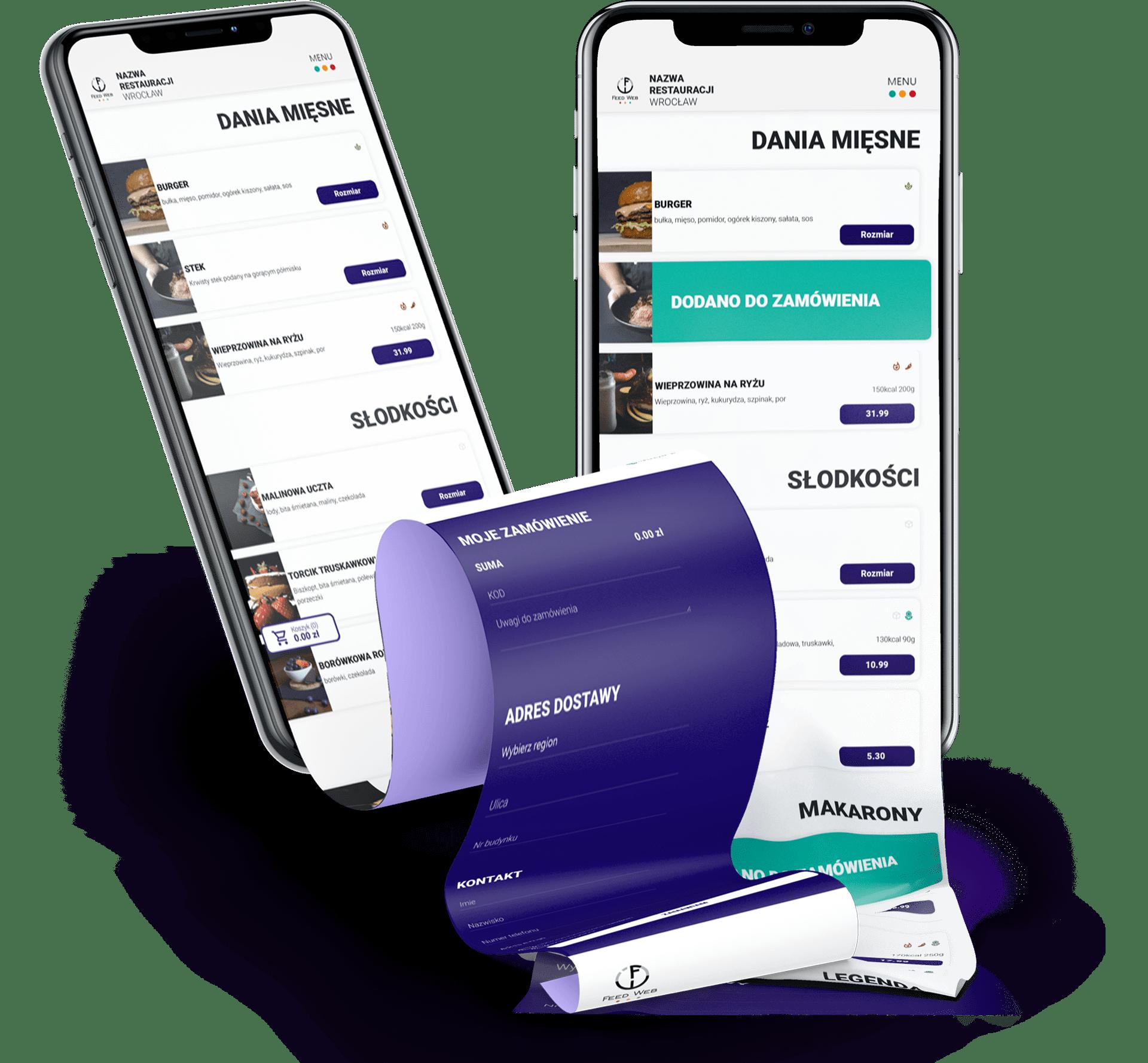 aplikacja do bezprowizyjnej sprzedaży w restauracji